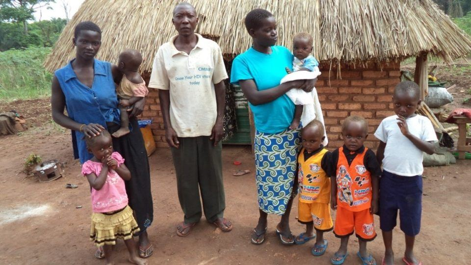 Philomena and her family in South Sudan