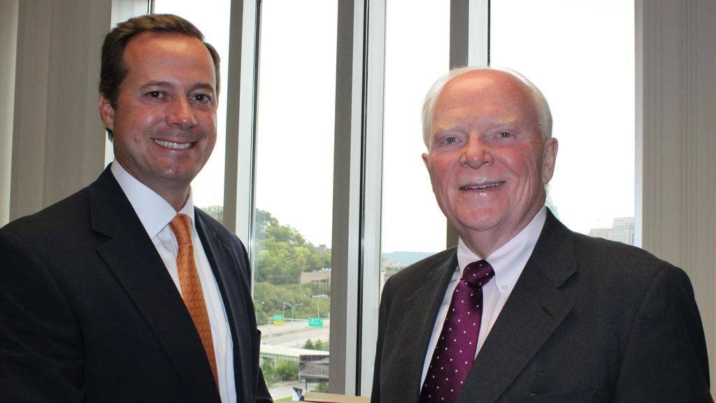 John Starcher and Michael Connelly former and current CEO of Mercy Health.