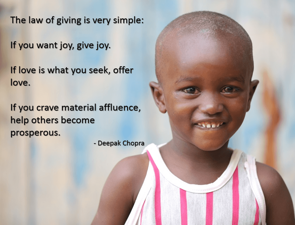 Deepak Chopra quote for giving tuesday