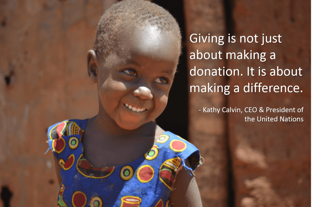 Giving is not just making a donation Giving Tuesday quote