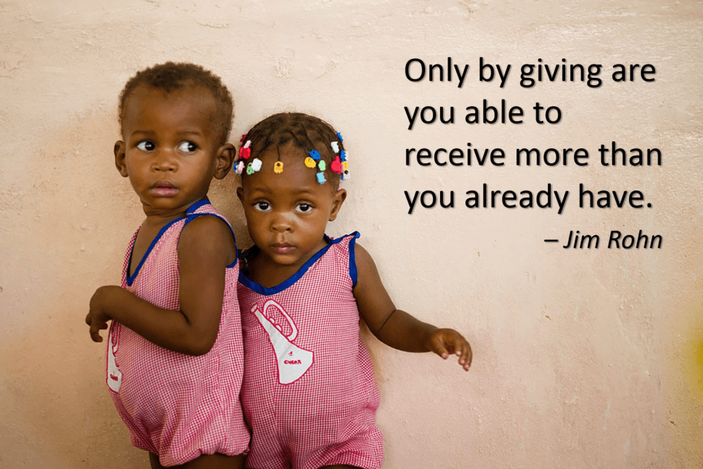 Jim Rohn quote for giving tuesday