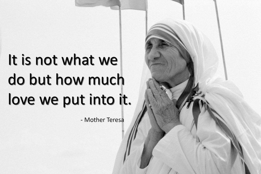 Mother Teresa photo for giving tuesday quote
