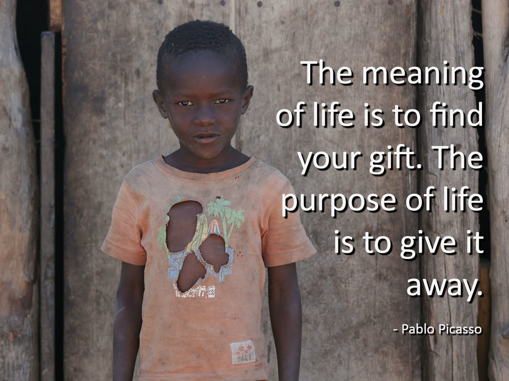 The Meaning Of Life Is To Find Your Gift Giving Tuesday Pablo