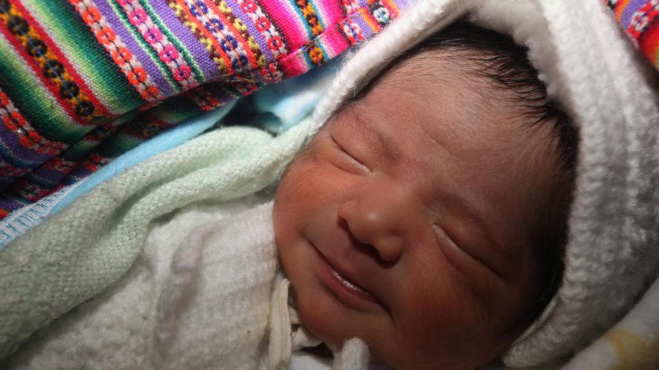 newborn baby in Peru
