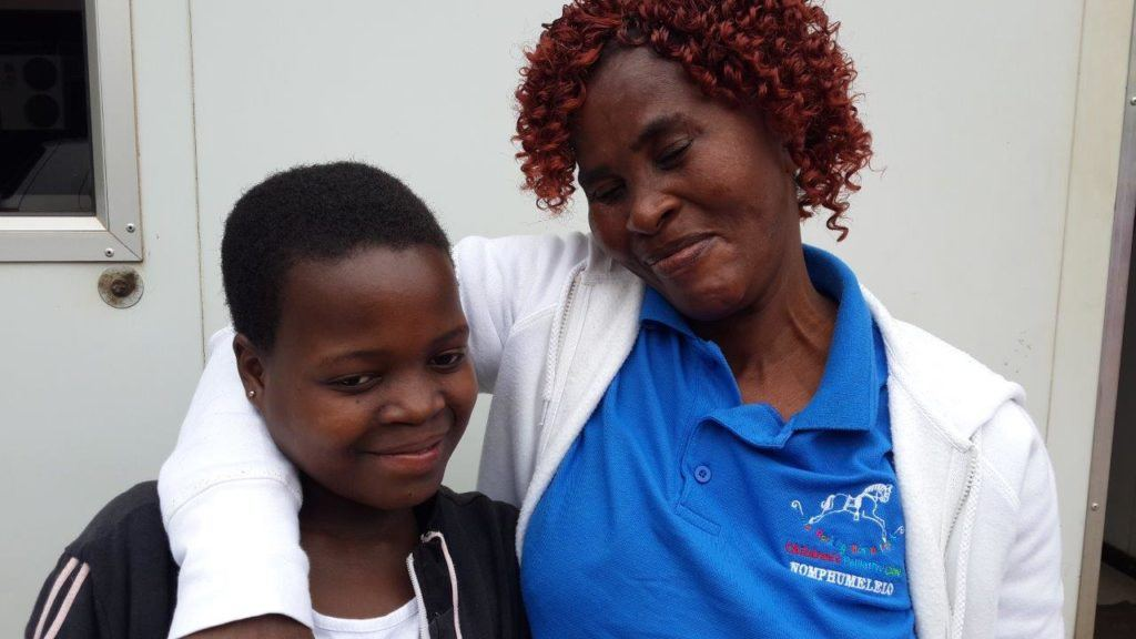 A lot of love with Thandi's caregiver