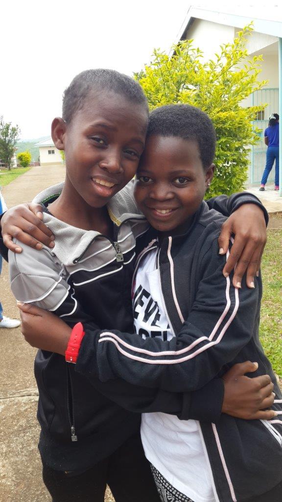 Thandi and her friend.