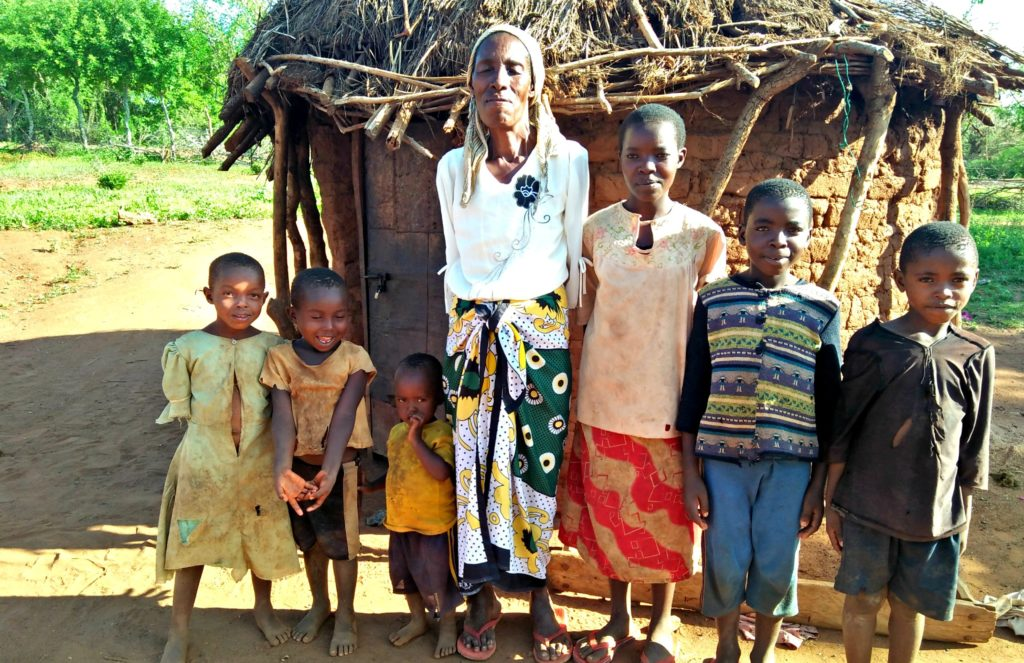 Grandma Daina with grandchildren in Kenya will be part of the Angel Program