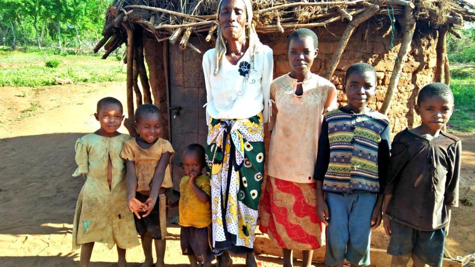 Grandma Daina with grandchildren in Kenya will be part of the Angel Program