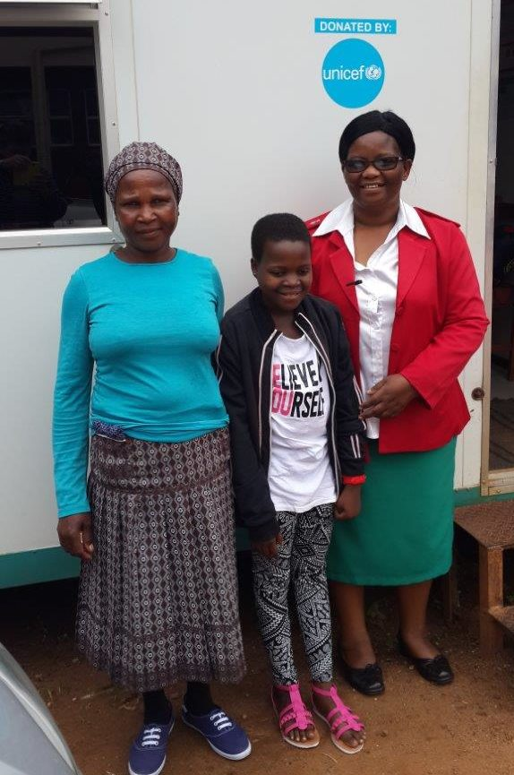 Home based care team with Thandi