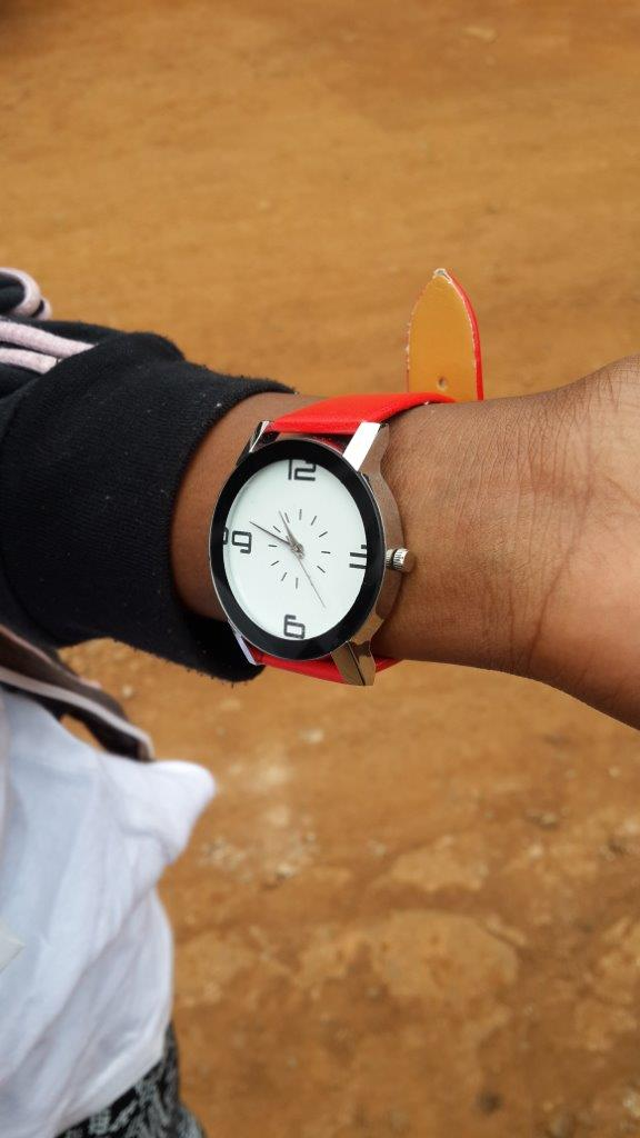 A watch for Thand to help her keep track of her medicines.