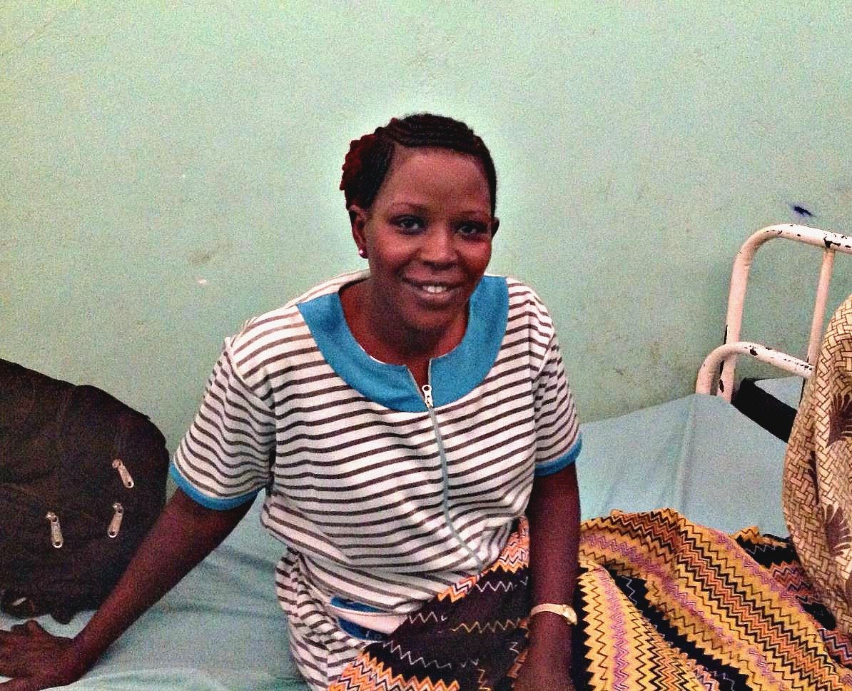 Amira Amir from Sudan visits the Mother of Mercy Hospital in Nuba Mountains and gets treated by Dr. Tom