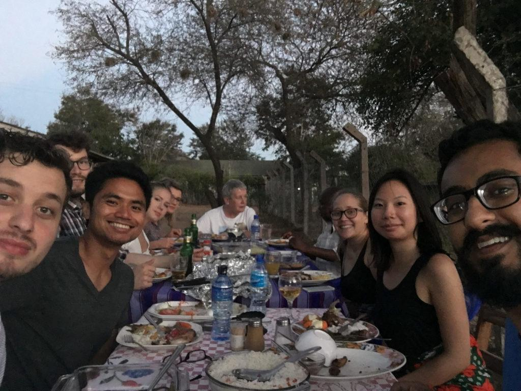A dinner with friends in Mutomo