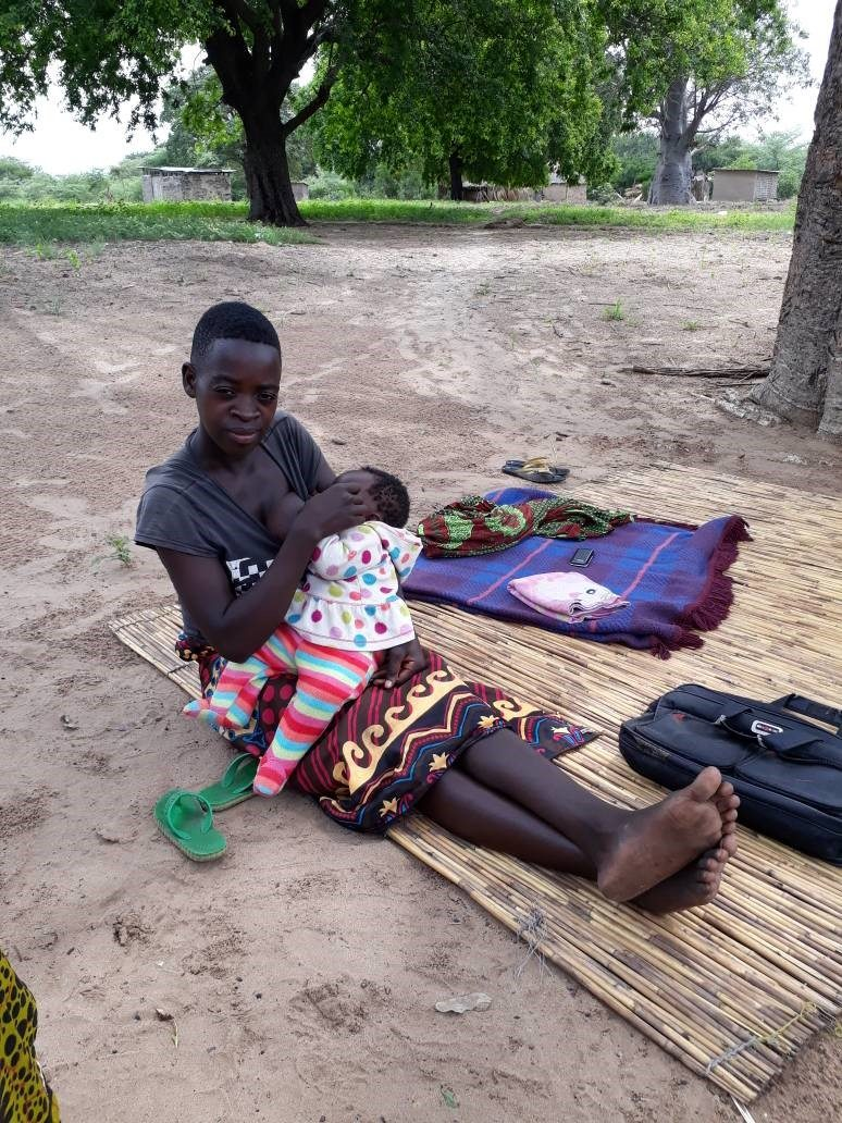 Mwaka breastfeeding her 4months old baby. Mwaka says she has learnt that breast milk contains adequate nutrients for the baby.