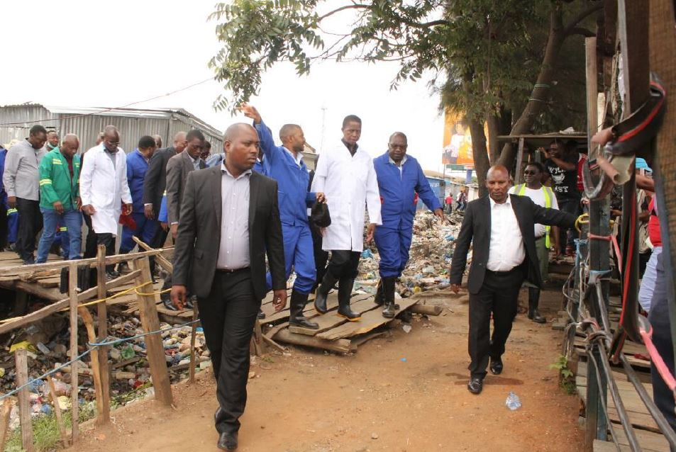 Photo of President Lungu visits areas effected