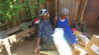 Tengeile and her mother in Swaziland.