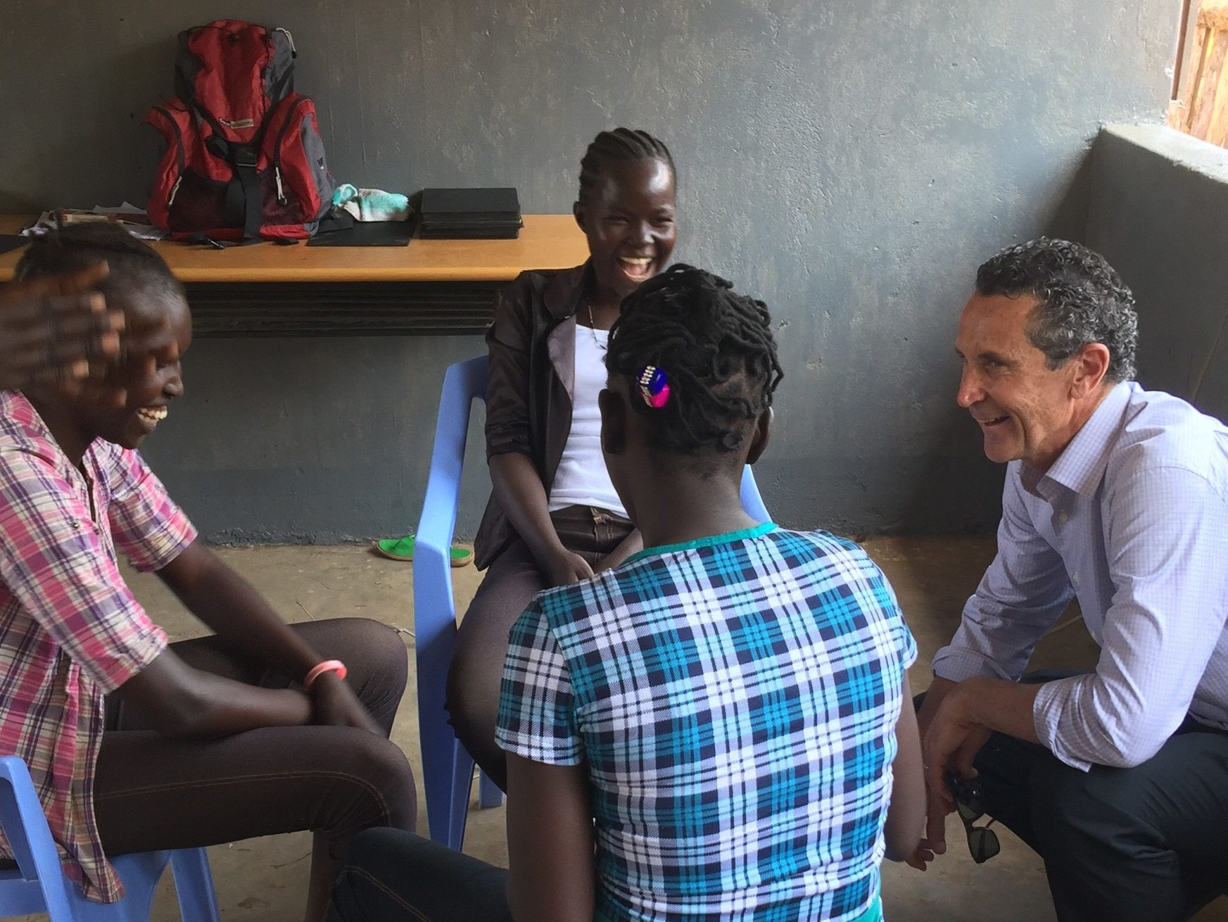 Bruce with some of the girls recently released in South Sudan. Finding a reason to smile again.