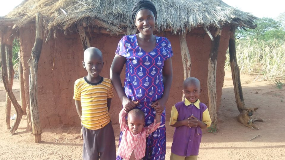 Francisca Family Photo in Kenya