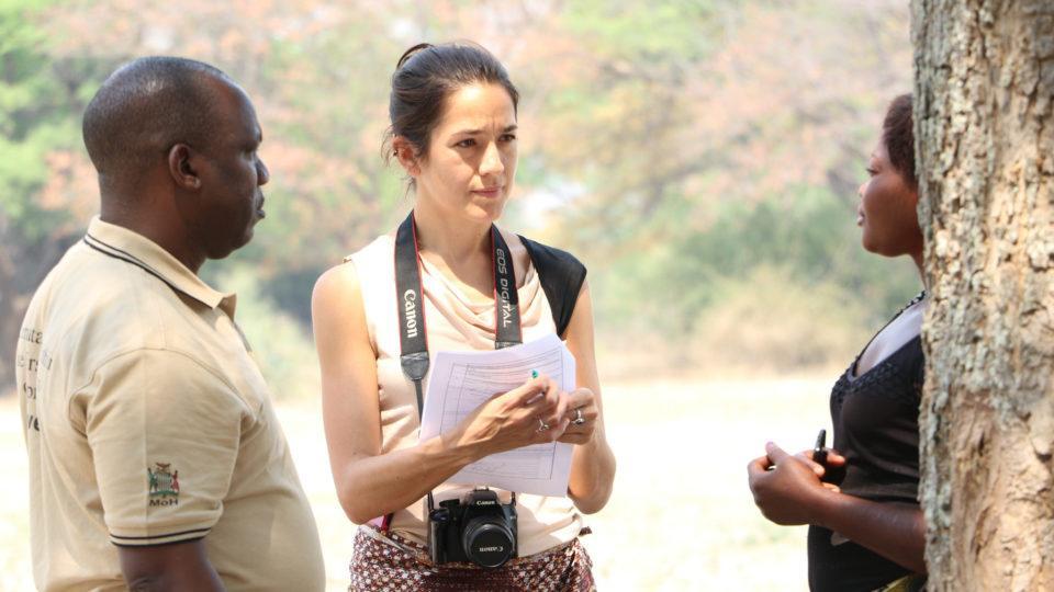 Marcia in the field in Mwandi