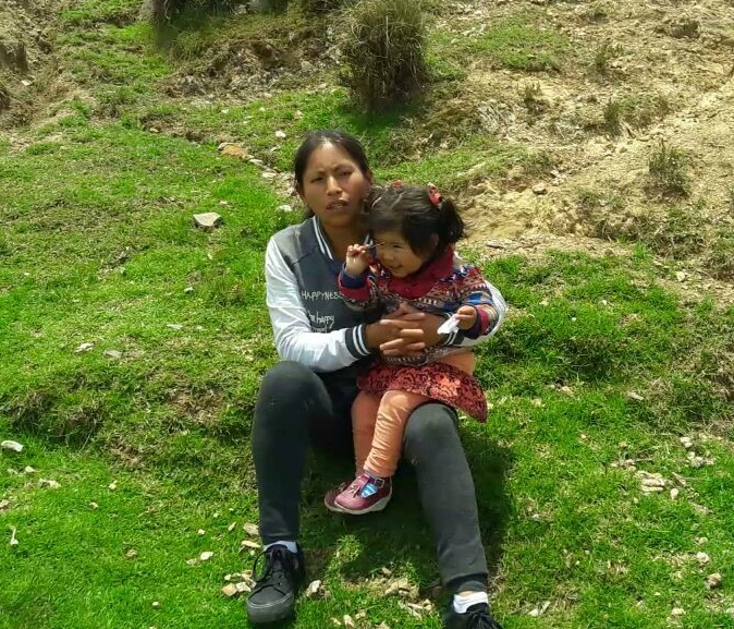 Rosel Mansilla_CMMB Peru beneficiary_mother and child_Valentine testimony