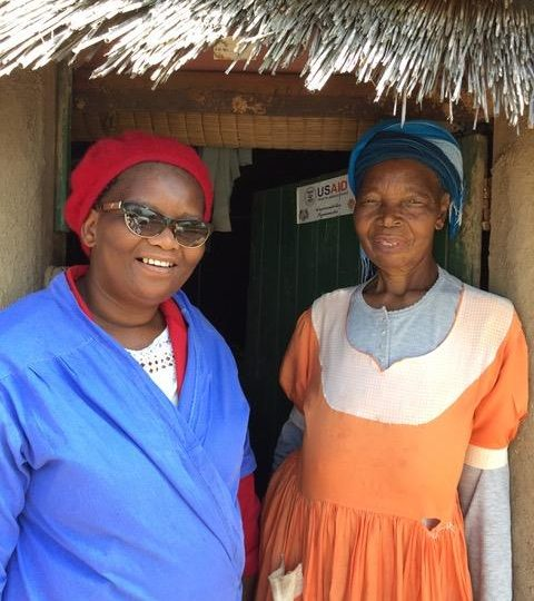 Sarah and one of the key members of our homebased care team in Swaziland.
