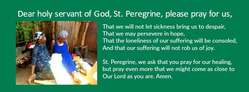 St Peregrine prayer for World Cancer Day Feb 4 2018 with Tangetile photo Swaziland
