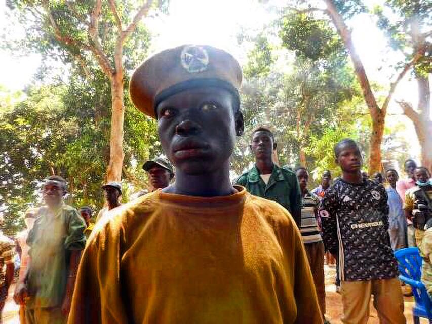 The face of a child solider recently released in Yambio, South Sudan.