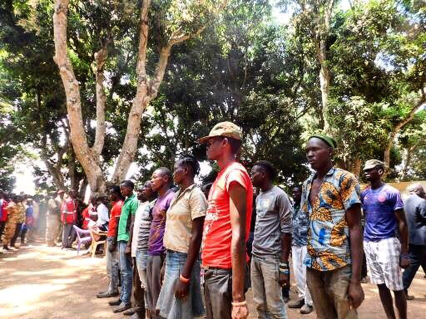 At the ceremony in Yambio which saw the release of 224 boys and 87 girls who had been forcibly recruited for the civil war