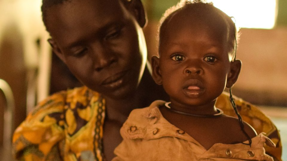 Mother and child from South Sudan