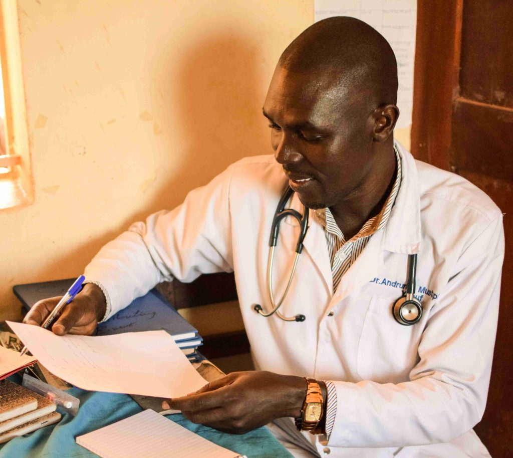 Dr. Mustapha in South Sudan at the Primary Healthcare Center