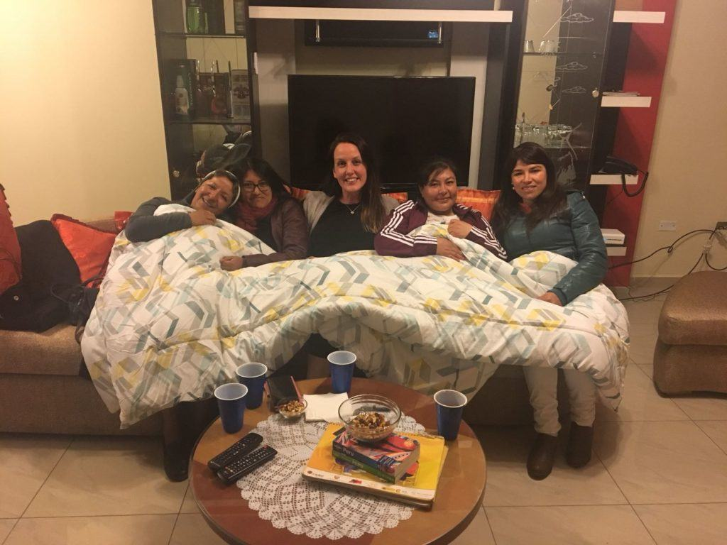 Sister Elena, international volunteers Niki Harris and Lauren, and a few other members of the CMMB team