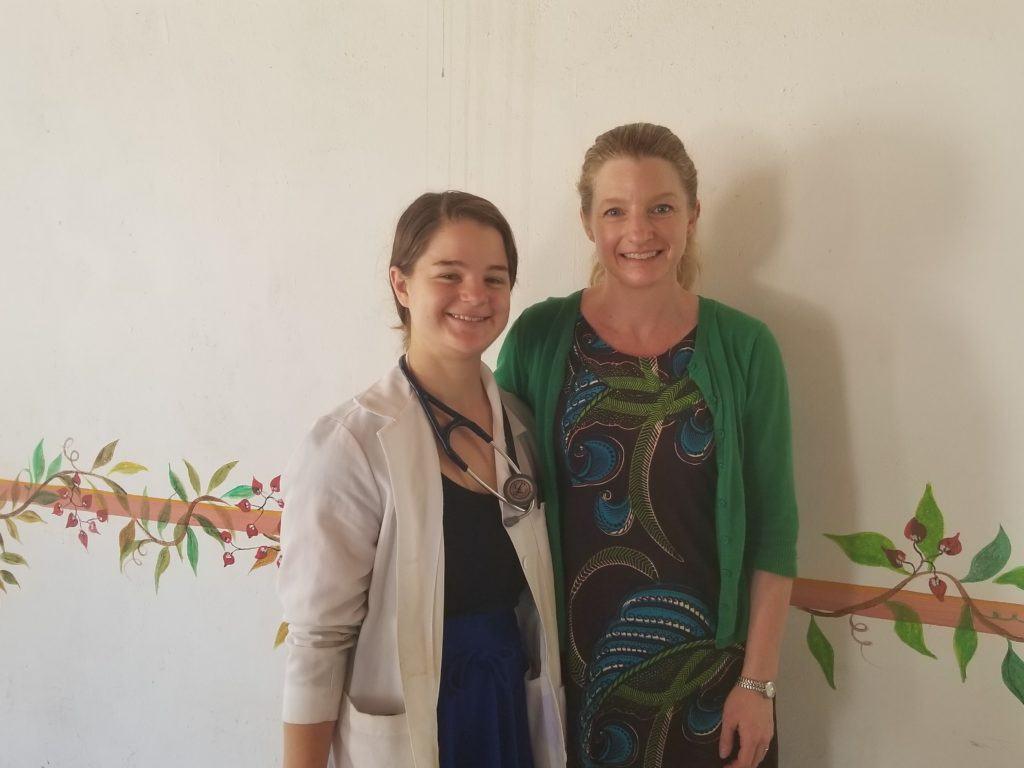 Heidi with CMMB international volunteer, Stephanie Summa