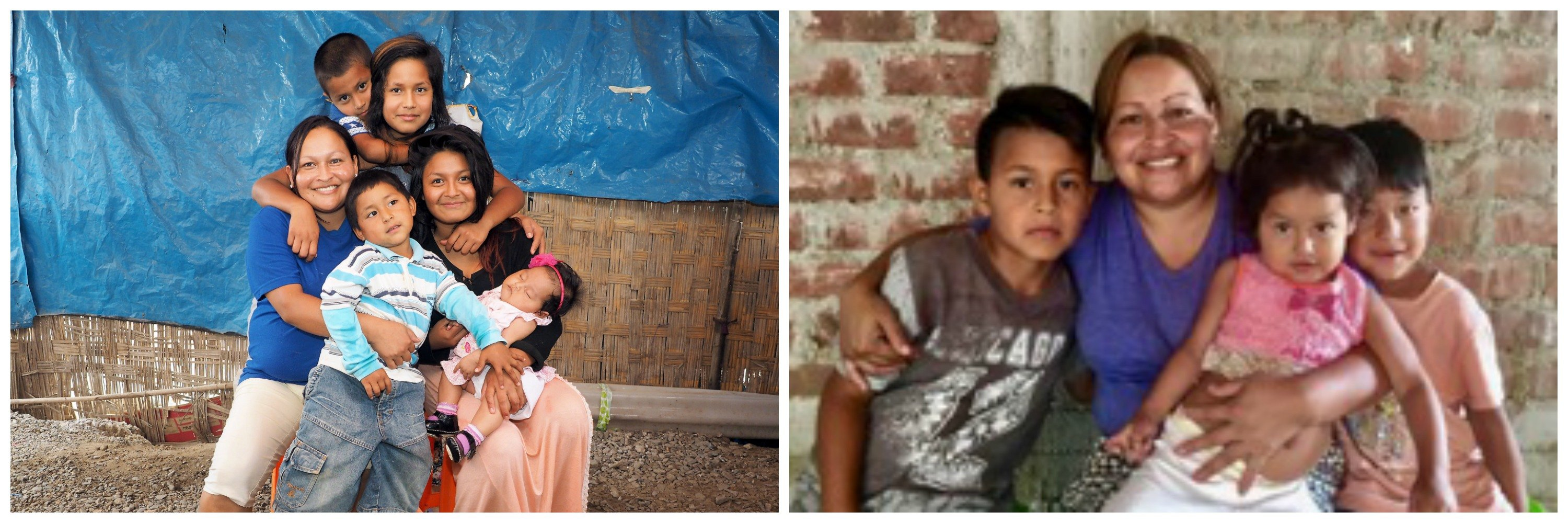 Luz Angelica and her family before and after