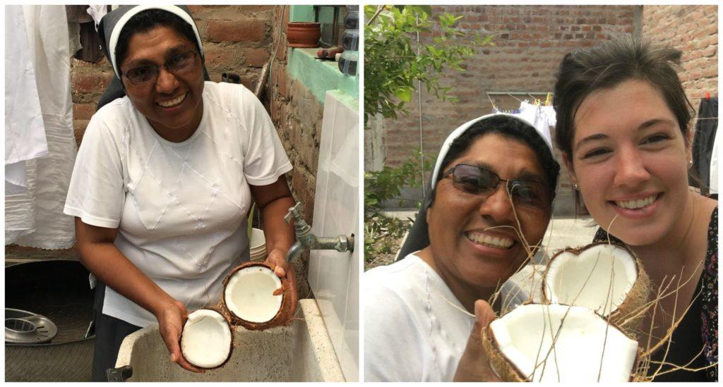 Sister Teresa and Brynn Macaulay were busy making special Peruvian desserts this weekend