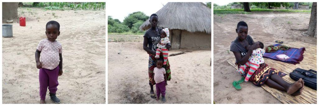 Young mother Mwaka and her children