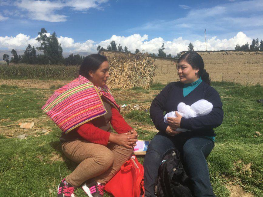 Nurse Maritza with a New Mom