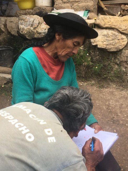 Nurse Stefany & Promotora Work with an Ederly Couple in Huari
