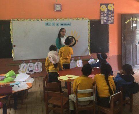 Nurse Stefany Working with School Children in Huari