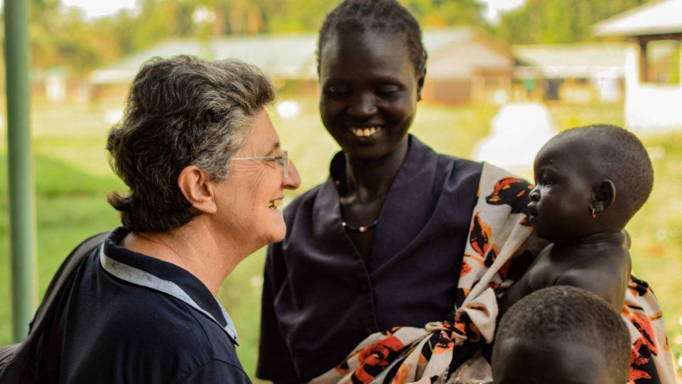 Sister Laura with patients