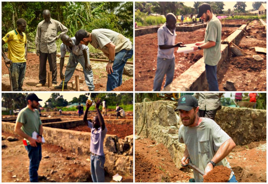 Martin on the job site at Nzara Hospital in South Sudan