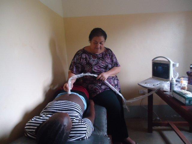 Rachael with ultrasound machine