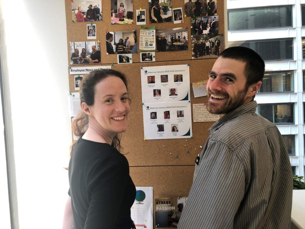 Martin and his wife Sarah, who will be volunteering in South Sudan alongside him.