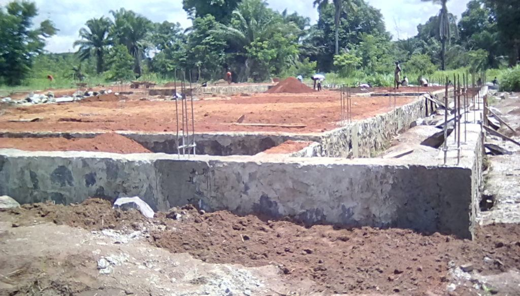 Constrution of the surgical ward foundation is nearly compelete, minus four columns that need to be filled with cement.