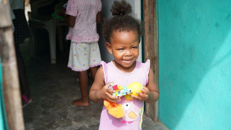 Francesca is a 2-year-old living in Cotes-de-Fer, Haiti.