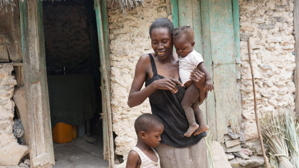 Dieukine with his mom, Lorina and baby sister, Jean Ali in Haiti.