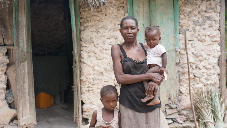 Jean Ali with older brother Dieukine and mom, Lorina in Haiti.
