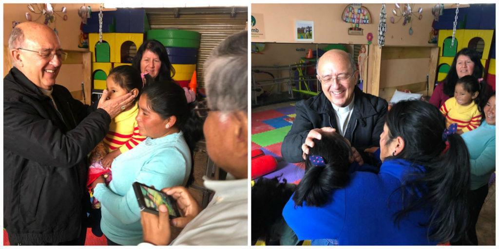 Monseñor Barreto meets CMMB families