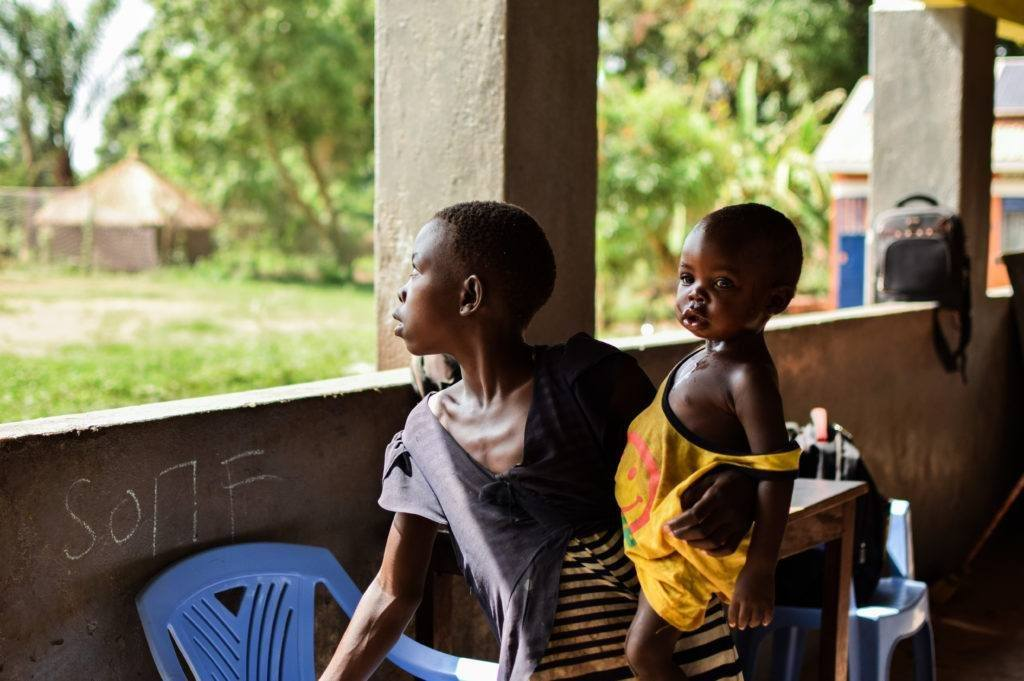 Recently released child soldiers at CMMB child transit center in Yambio,South Sudan