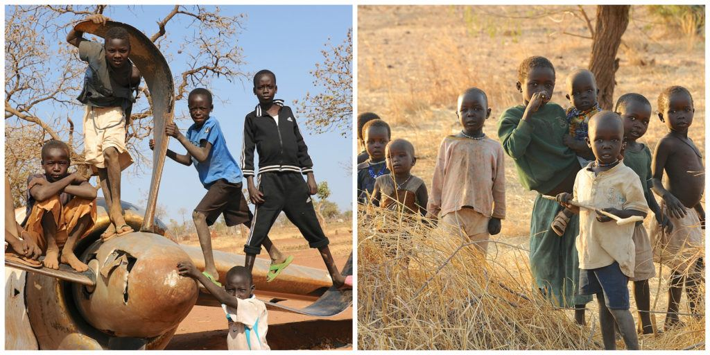 Children from the Nuba Mountains