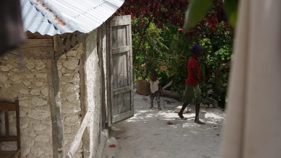 Lalune's home in a remote area of Haiti.