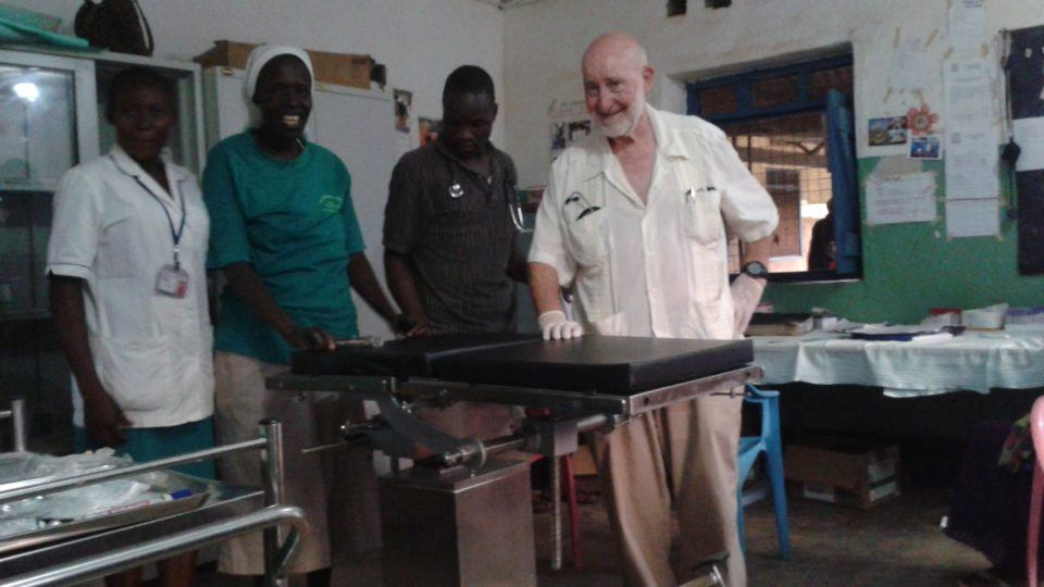 Dr. Harry at the Nzara Mission Hospital in South Sudan